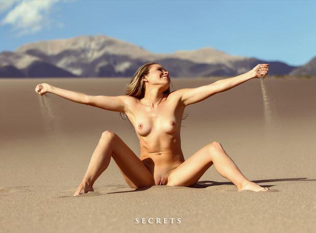 feel the sand artistic nude photo by model missmissy