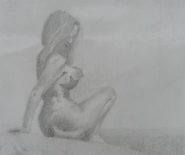 feel the silence artistic nude artwork by artist alexandros makris