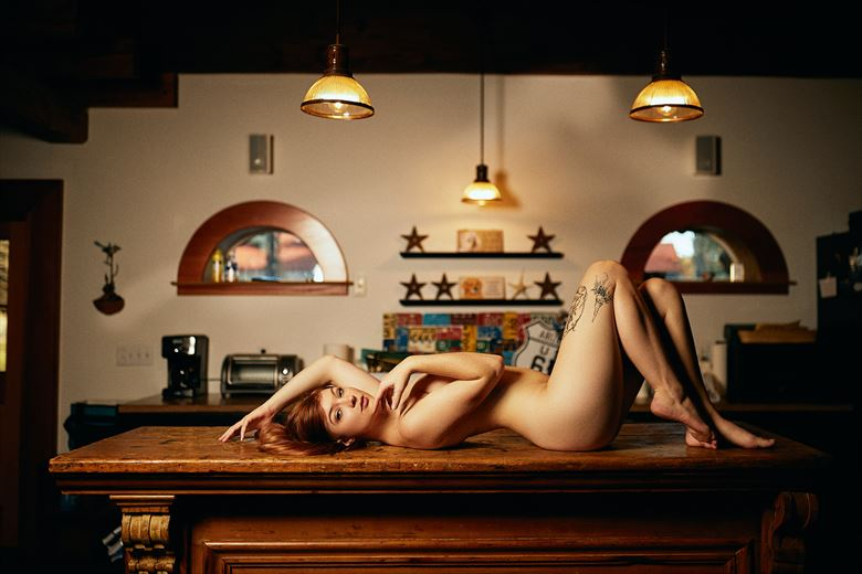 feline on the counter tattoos photo by photographer theprivatelens