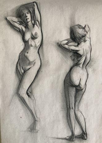 female nude studies artistic nude artwork by artist edoism