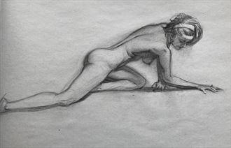 female nude study 2 artistic nude artwork by artist edoism