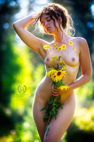 feminine nature wildflower series artistic nude photo by photographer g a photography