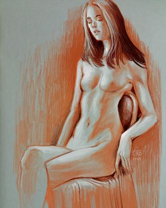 figure study 1 artistic nude artwork by artist craig brasco