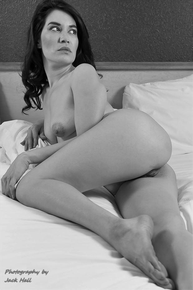 figure study in black and white artistic nude photo by photographer jack hall