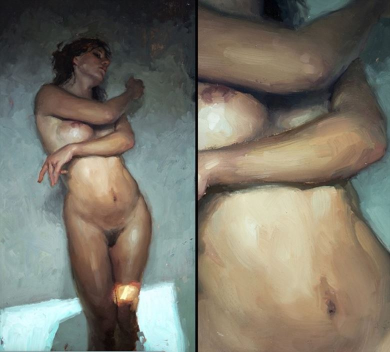 figure study in sf artistic nude artwork by model vexvoir
