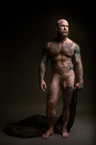figure study of jack dixon artistic nude photo by photographer david clifton strawn