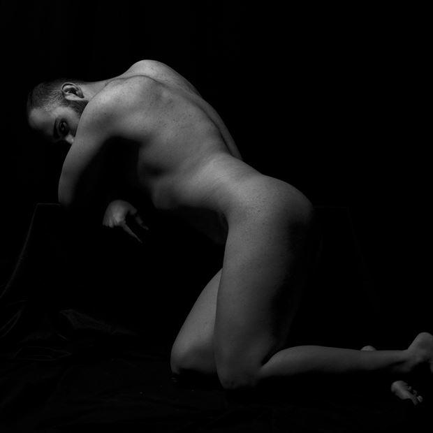 figure study self portrait photo by artist sr gris