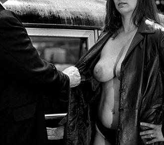 film noir a chance encounter on the street artistic nude photo by photographer avant garde_art