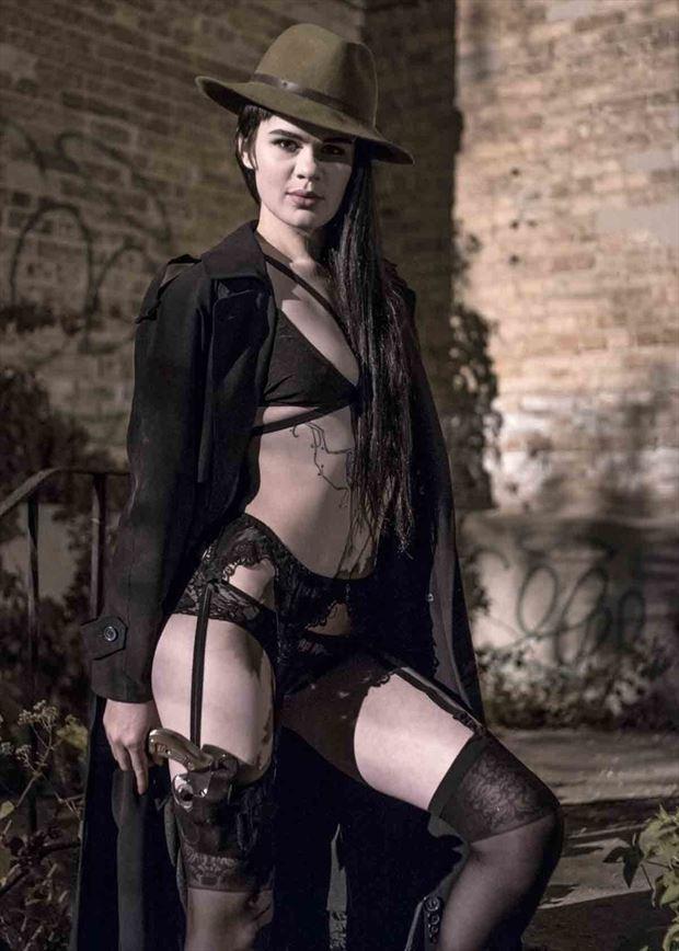 film noir the private detective lingerie photo by photographer avant garde_art