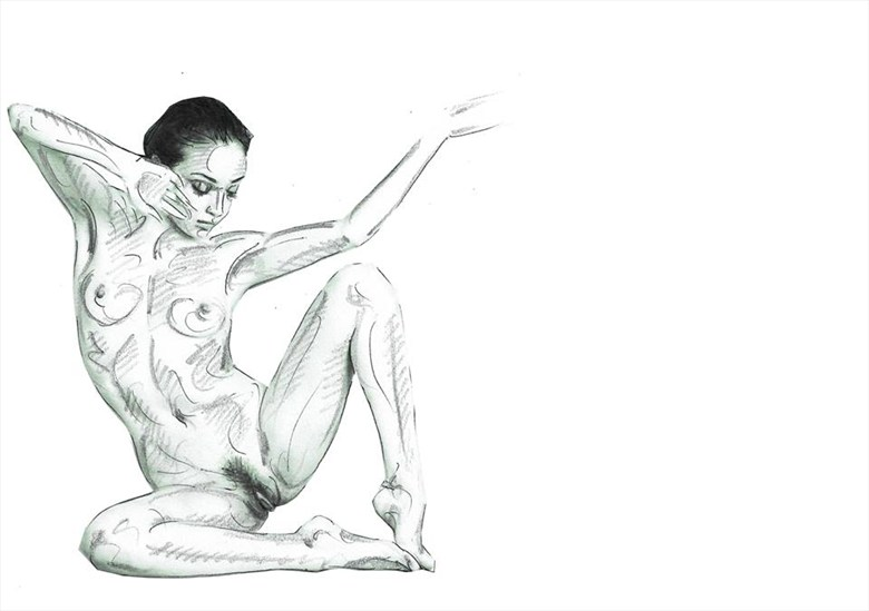 finding corners Artistic Nude Artwork by Model rebeccatun