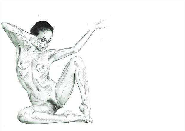 finding corners Artistic Nude Artwork by Model rebeccatun