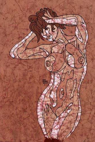 fiona artistic nude artwork by artist kevin houchin