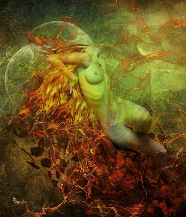 fire elements digital artwork by artist digital desires