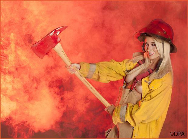 fire fighter cosplay artistic nude photo by photographer dpaphoto