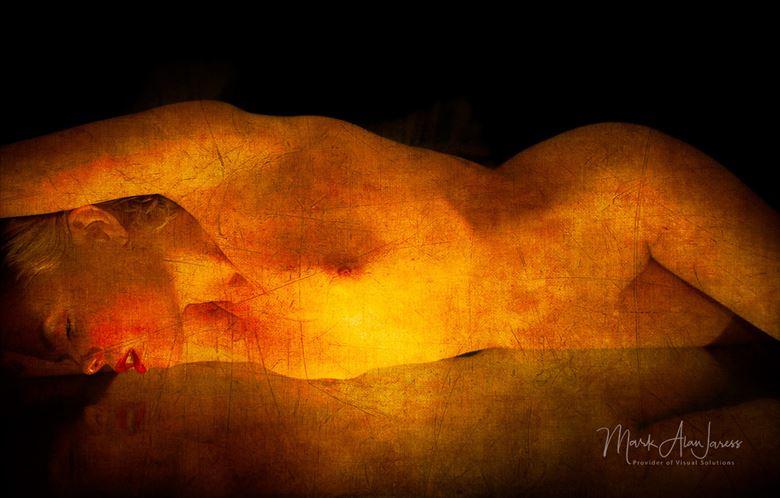 fire figure artistic nude artwork by photographer mark jaress