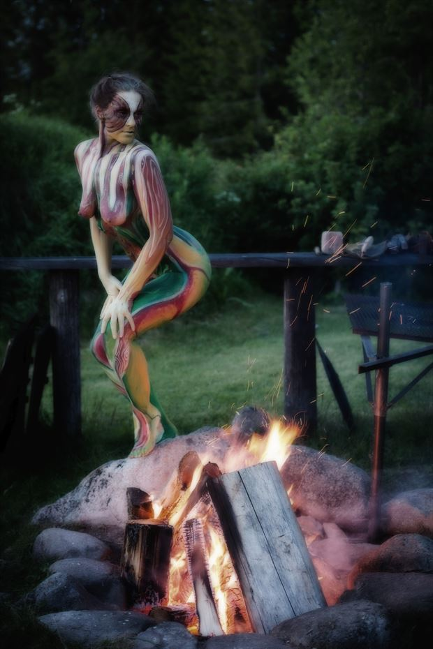 fire surreal artwork by photographer accipiter