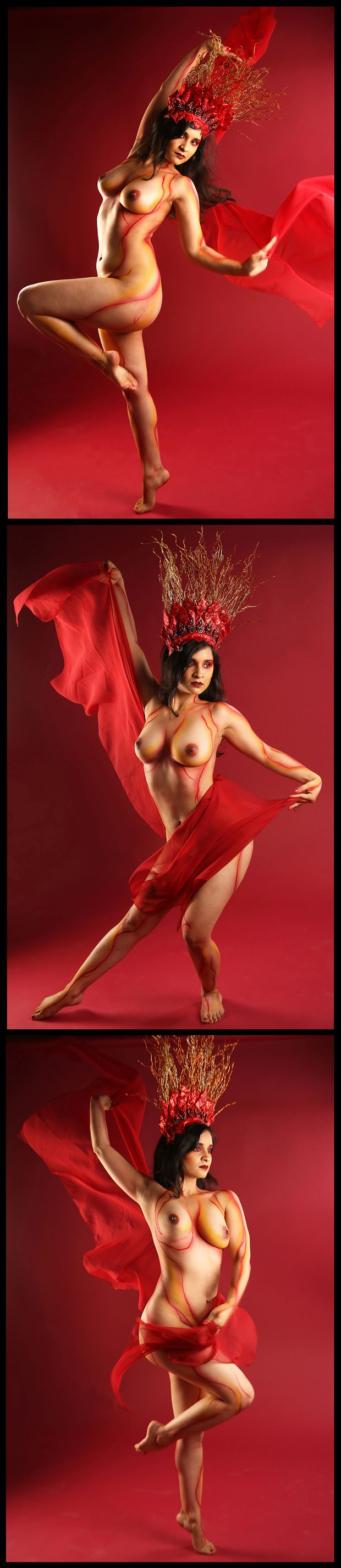 fire woman artistic nude photo by photographer exile gallery