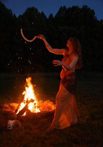 firelit ritual fantasy photo by photographer fred scholpp photo