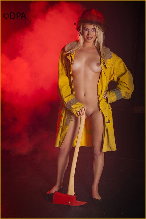 fireman cosplay artistic nude photo by photographer dpaphoto