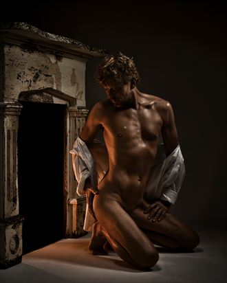 fireside dreaming artistic nude photo by photographer r pedersen