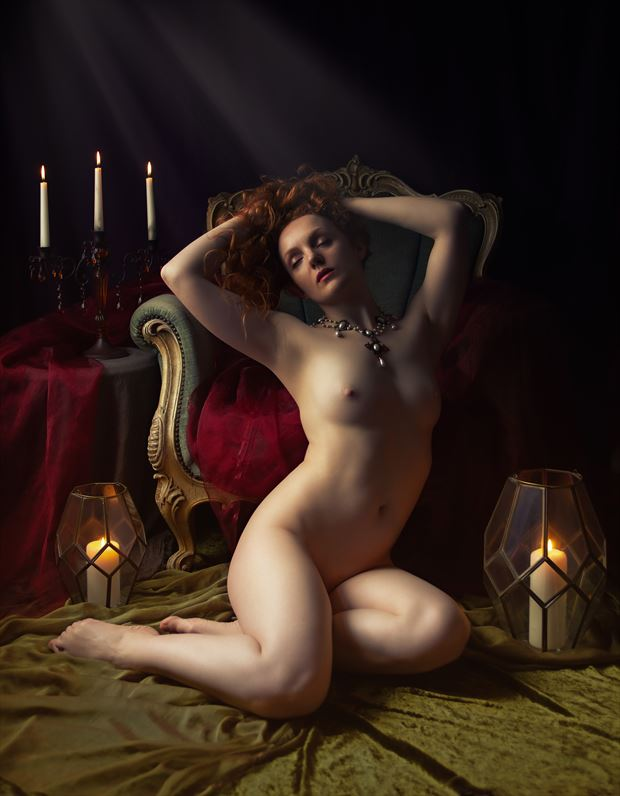 five candles artistic nude artwork by photographer neilh
