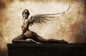 flight risk artistic nude artwork by artist john morris sculptor