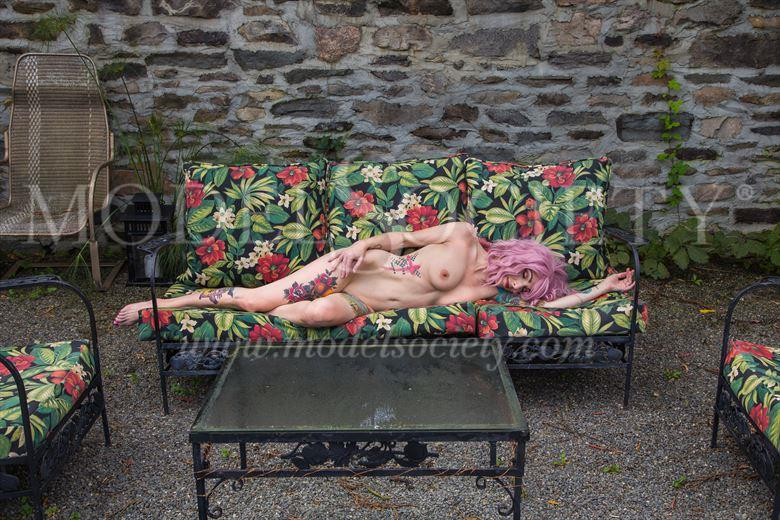 floral lounge 2 artistic nude photo by photographer michael grace martin