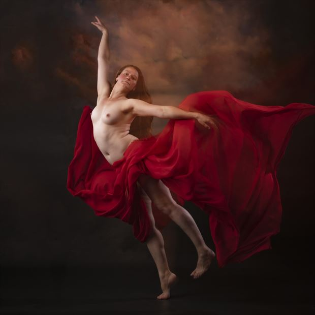 flowdance red artistic nude photo by photographer andrewmackay