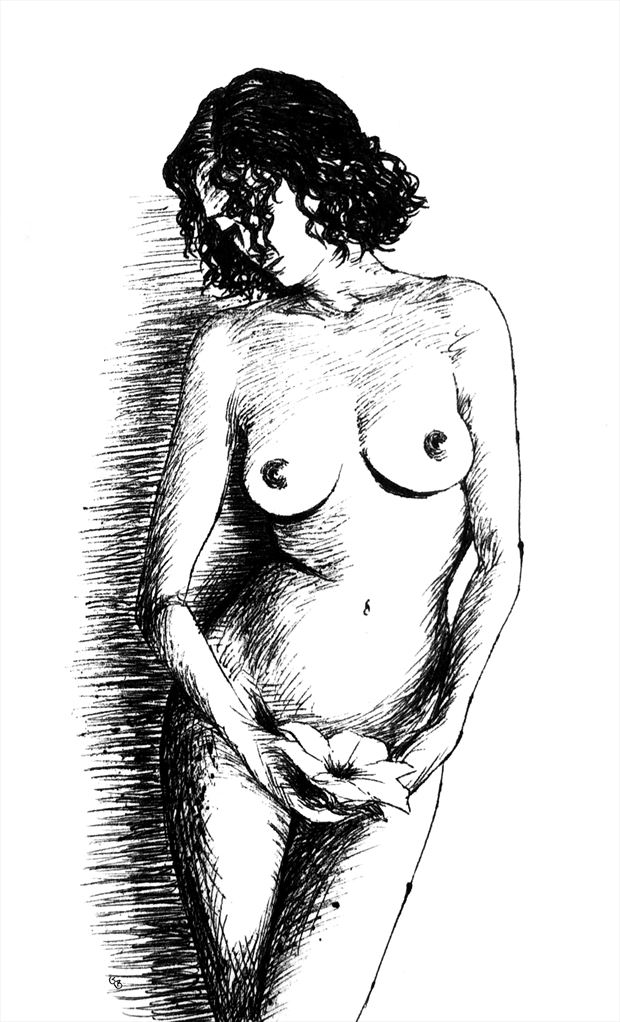 flower artistic nude artwork by artist subhankar biswas