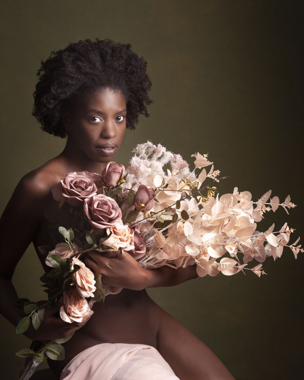 flower girl artistic nude photo by model faith vivien babirye