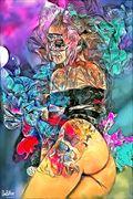 flowers artistic nude artwork by artist derbuettner