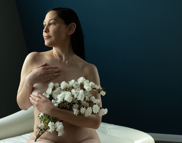 flowers artistic nude artwork by photographer gsphotoguy