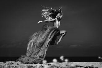 flying mermaid fantasy photo by model reelika bergman