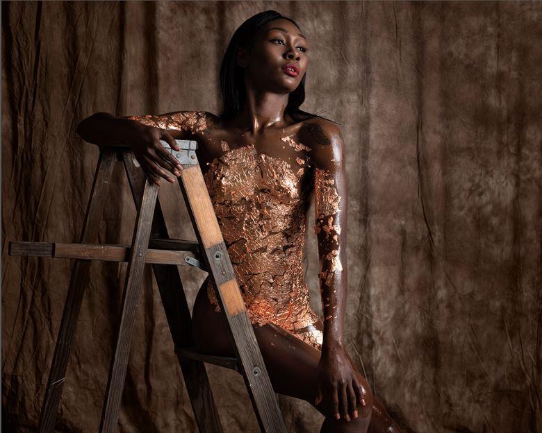 foiled excellence artistic nude artwork by model skinnythemodel