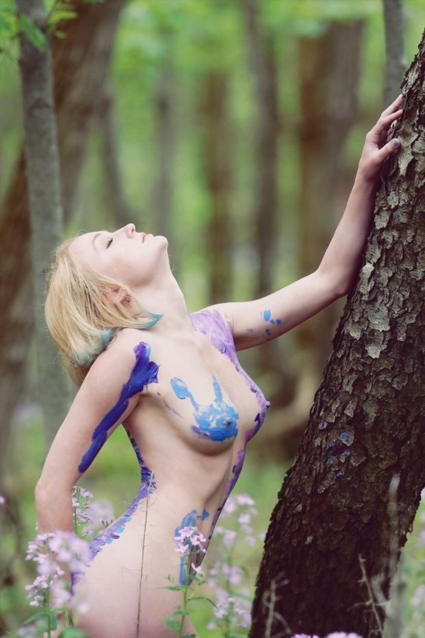 forest nymph artistic nude photo by model cali laine