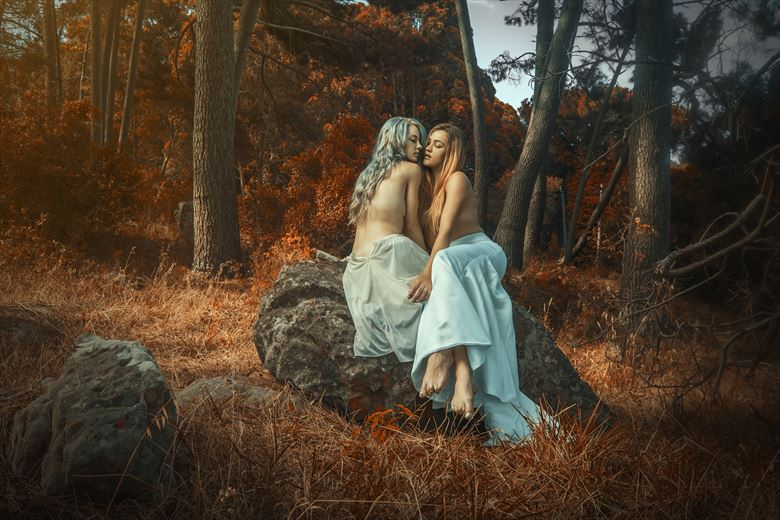 forest nymphs artistic nude photo by photographer luj%C3%A9an burger