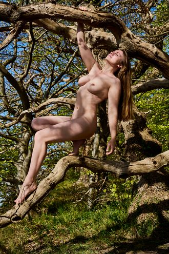 forrest springtime artistic nude photo by photographer mick gron