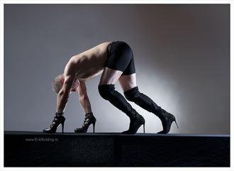 four heels surreal artwork by photographer erik bolding
