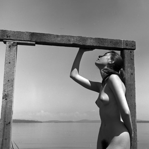 framed 1958 artistic nude photo by artist jean jacques andre