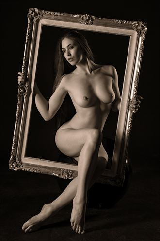 framed artistic nude photo by photographer philip turner