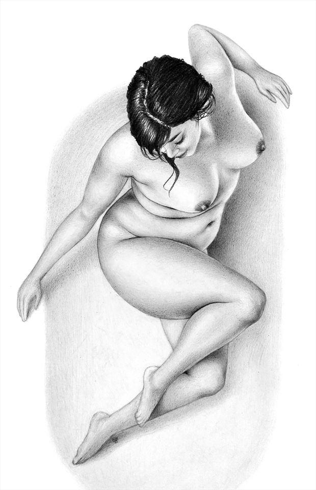 freshie bathtub artistic nude artwork by artist subhankar