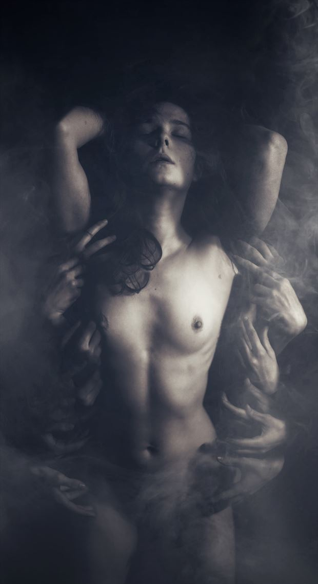 freudian scorpion artistic nude photo by model daniella sama