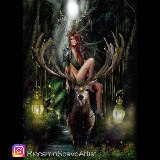 freya cosplay artwork by artist riccardo scavo