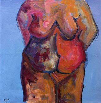 full frontal artistic nude artwork by artist chris j hodge