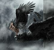 gargoyle fantasy artwork by artist karinclaessonart