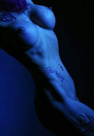 gel lights artistic nude artwork by model phoenix skye