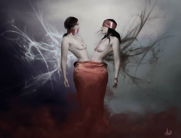 gemini artistic nude artwork by artist angeil illustrations