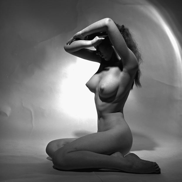 gina study 1958 artistic nude photo by artist jean jacques andre