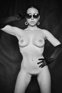 girl in glasses artistic nude photo by photographer slavaphoto