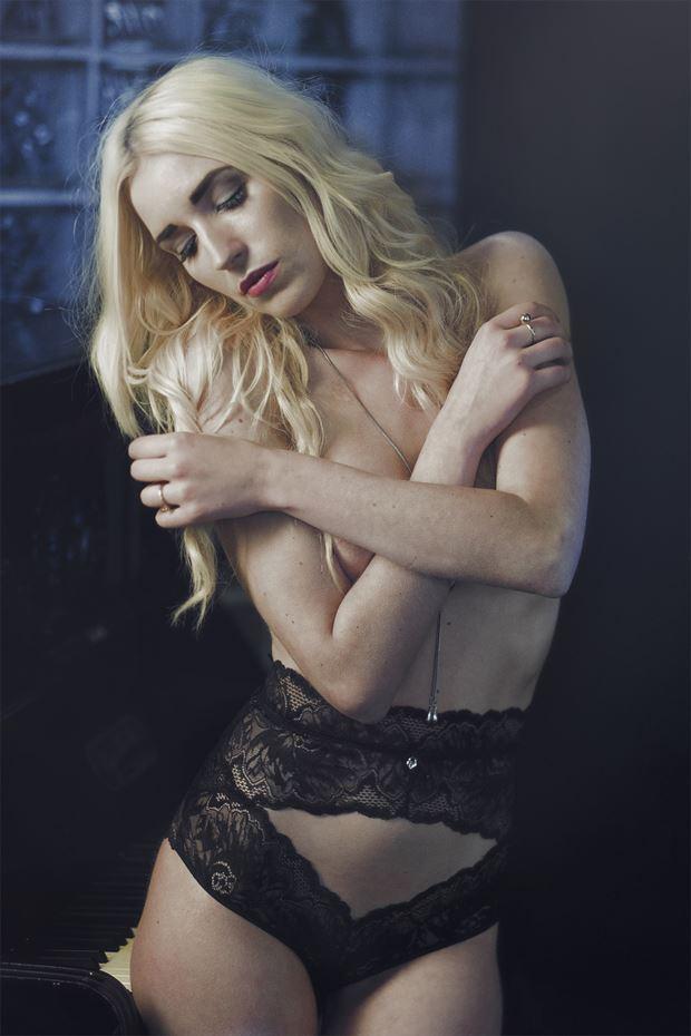 girl in hallway lingerie artwork by photographer pegico_art